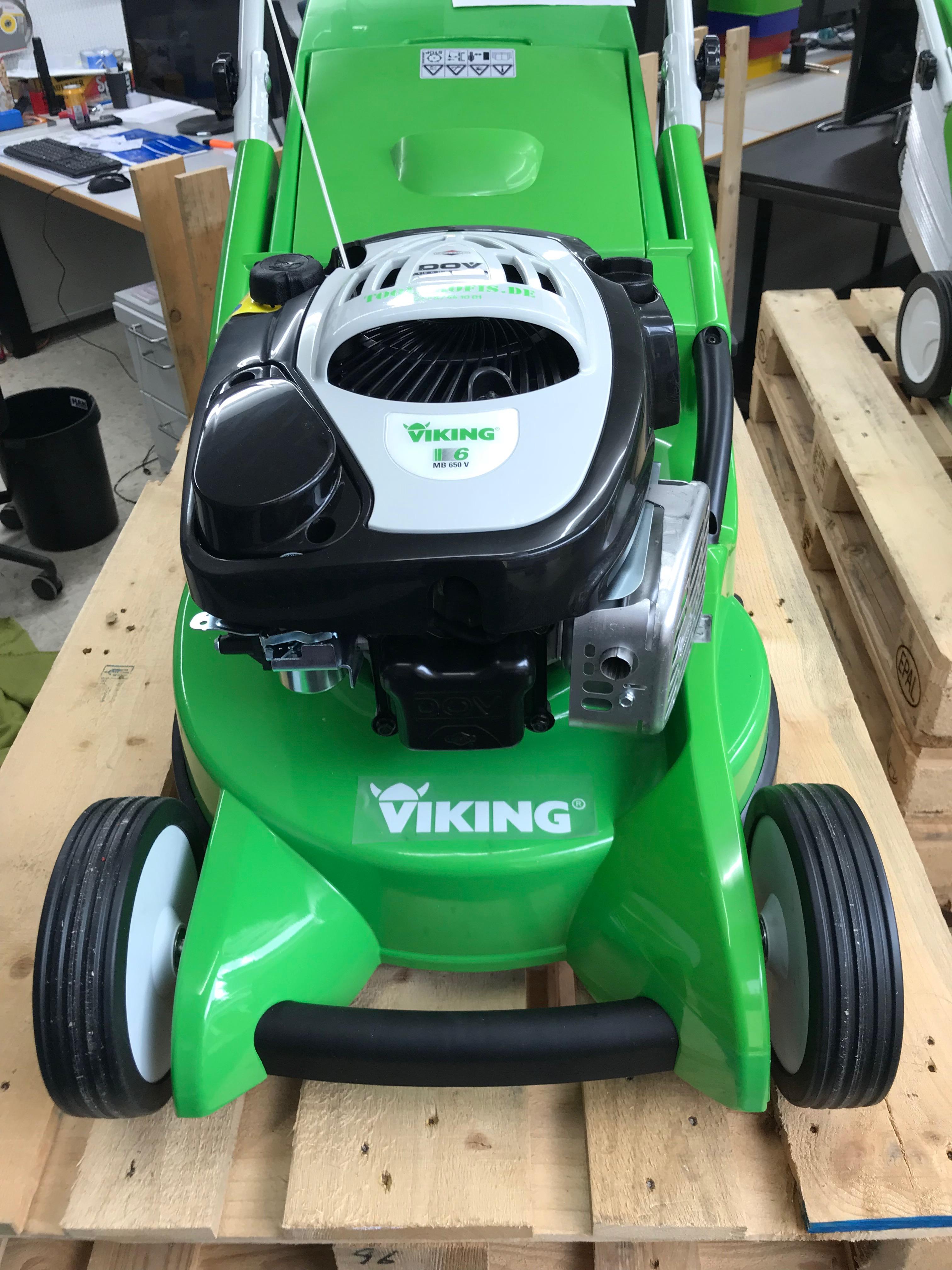 viking benzin rasenmäher mb 650 v 63600113412 48cm schnittbreite